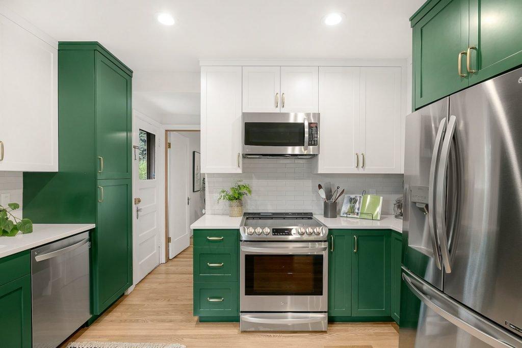 color in kitchen - portland kitchen - green kitchen